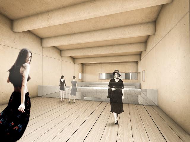 RENDERS 3D PFC - Render interior 3d para el PFC ETSAM de Adriana Quesada Sánchez - ETSAM UEM UCJC ESAYT USPCEU USP CEU IE UAX UAH UPM ETSA
