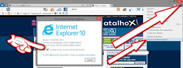 Atualizar o  Internet Explorer