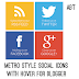 Metro Style Social Icons v1 Widget for Blogger
