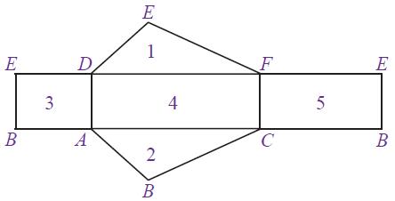 jaring-jaring prisma tegak segitiga