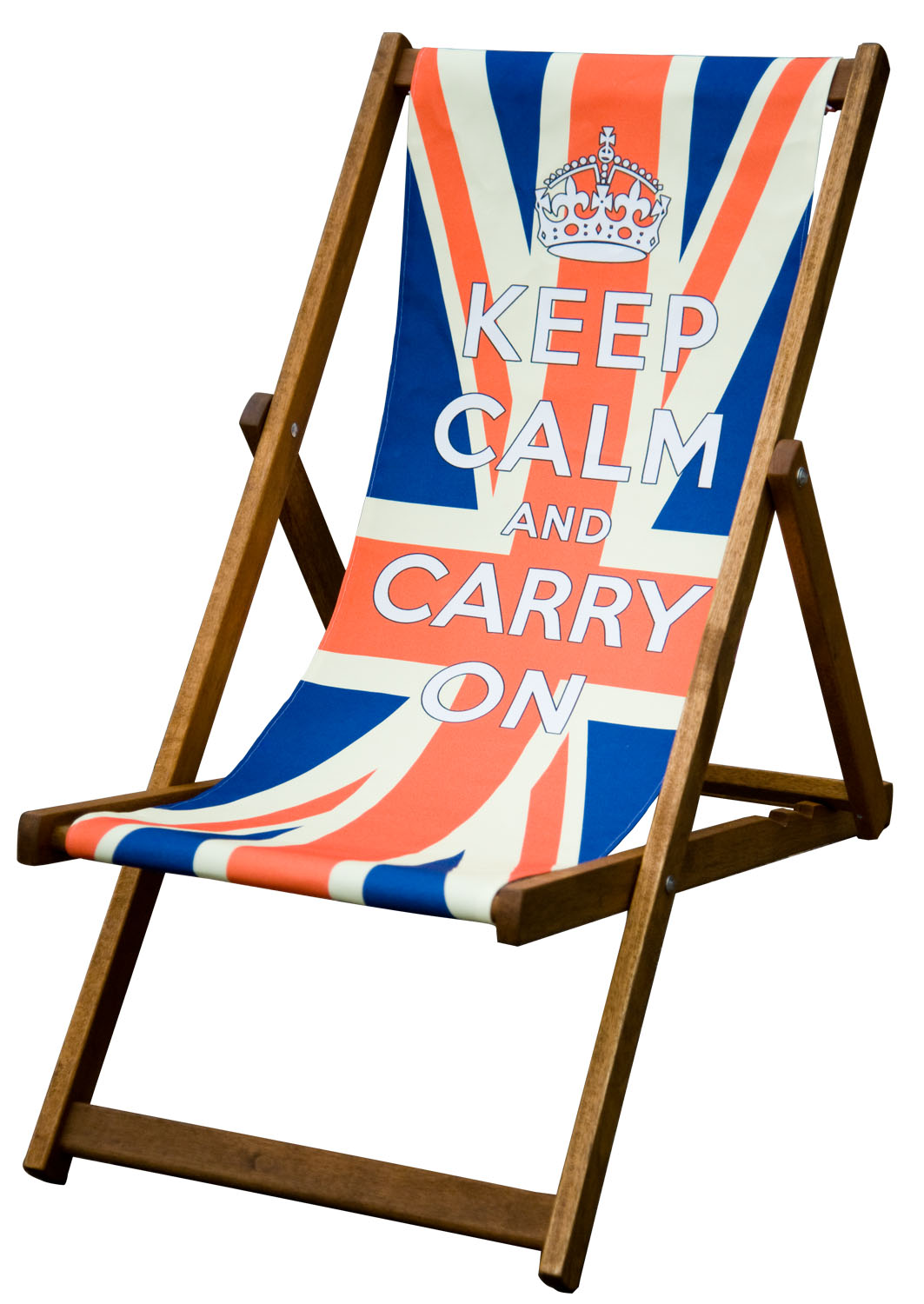 keep calm and carry on deckchair union jack deckchair. Black Bedroom Furniture Sets. Home Design Ideas