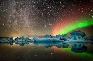 Northern lights - Jokulsarlon