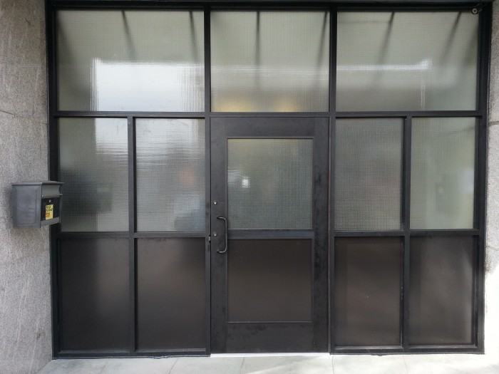 Let 39 s stay steel factory style windows doors and storefront for Door frame with side window