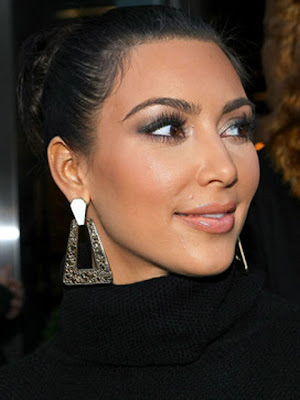 Kim Kardashian Gemstone Geommetric Earrings