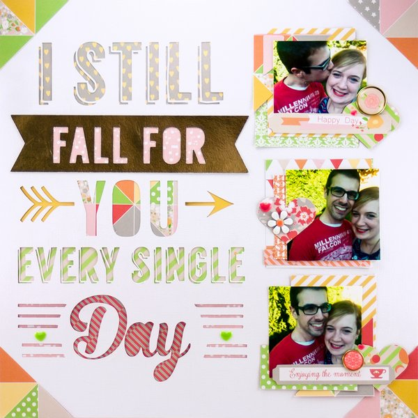 Allie Stewar Chickaniddy Crafts August Color Layout