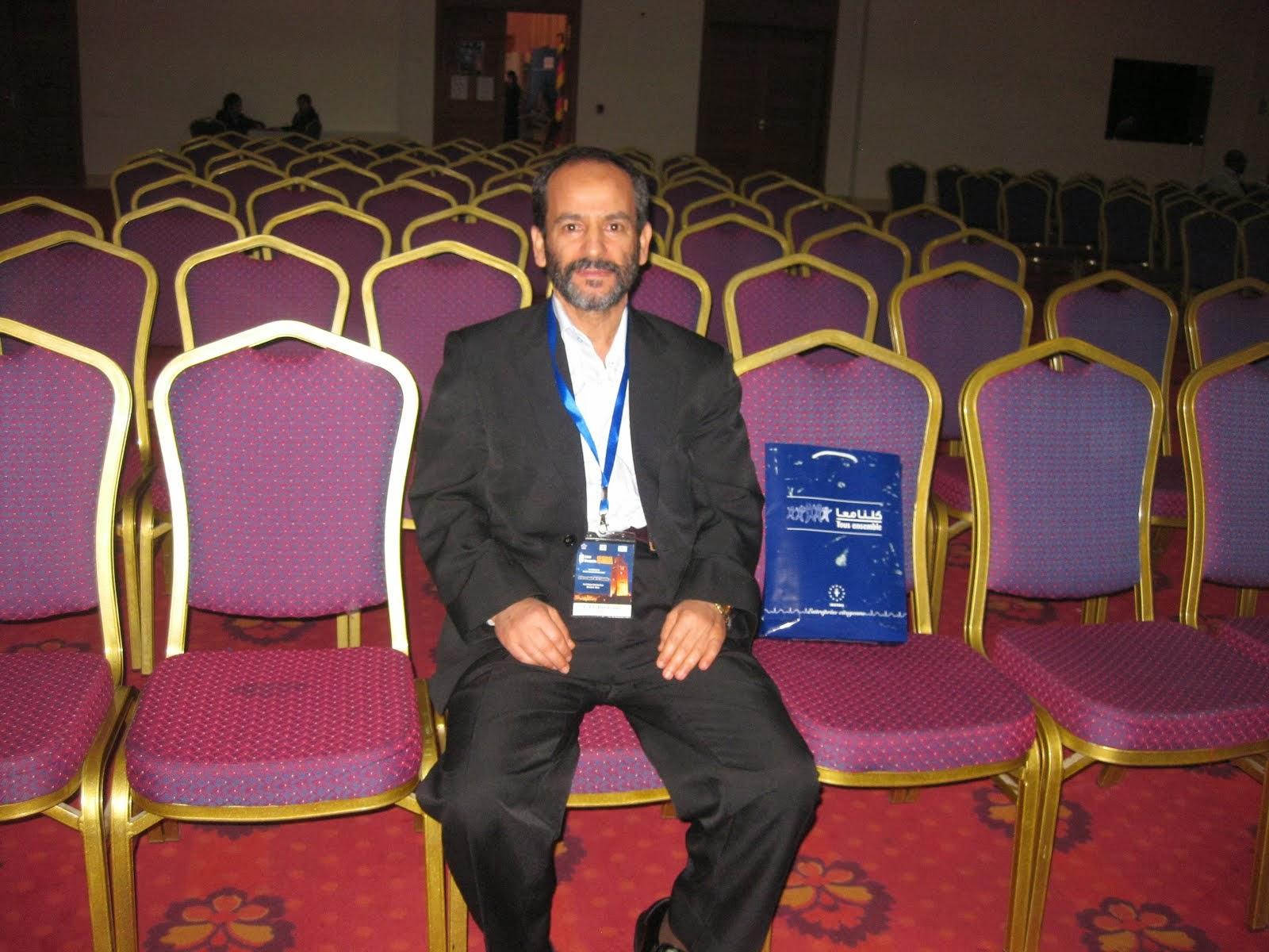 PROFESSEUR BARDOUNI DANS LA SALLE D EXPOSE DU CONGRE D ARTHROSCOPIE HOTEL PALM PLAZA A MARRAKECH