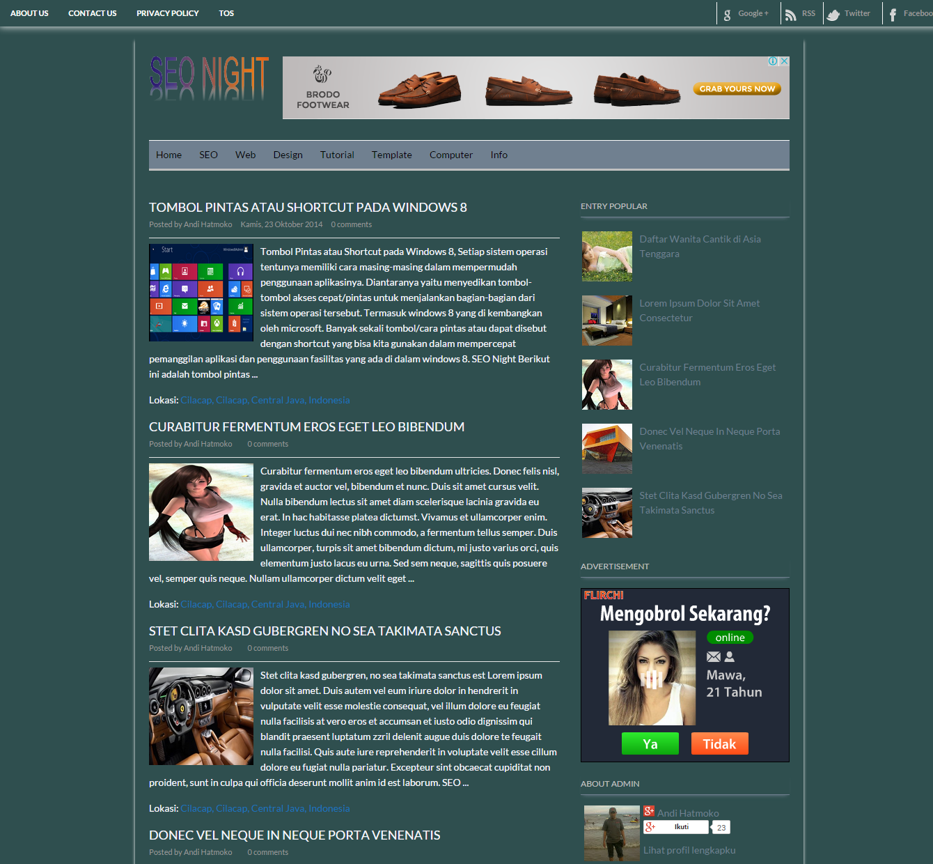 seo night blog templates