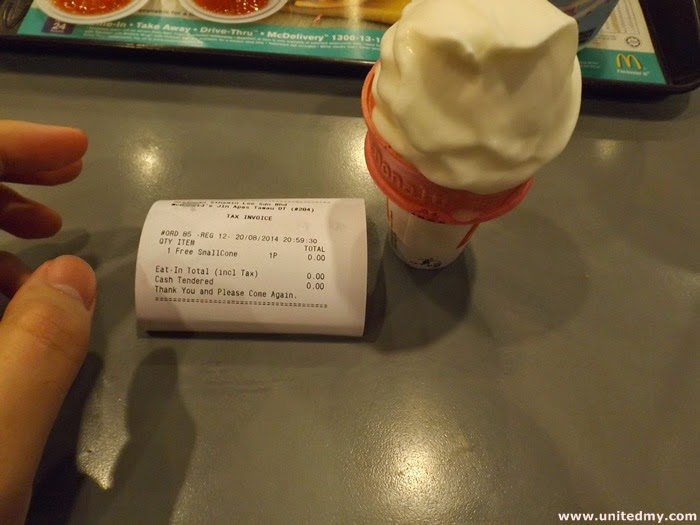 how to get free ice cream from mcdonalds