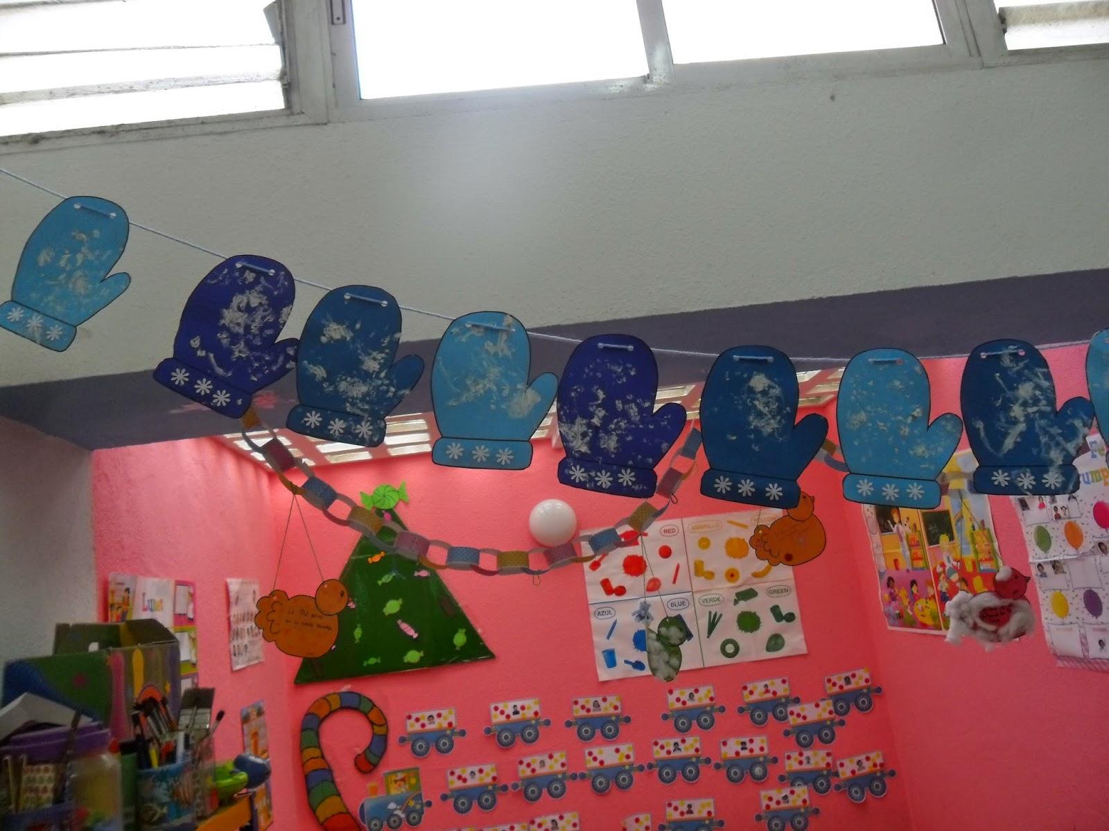 Materiales para educaci n infantil guantes para el invierno for Decoracion invierno