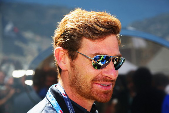 André Villas-Boas is seen in the paddock before the Monaco Formula One Grand Prix
