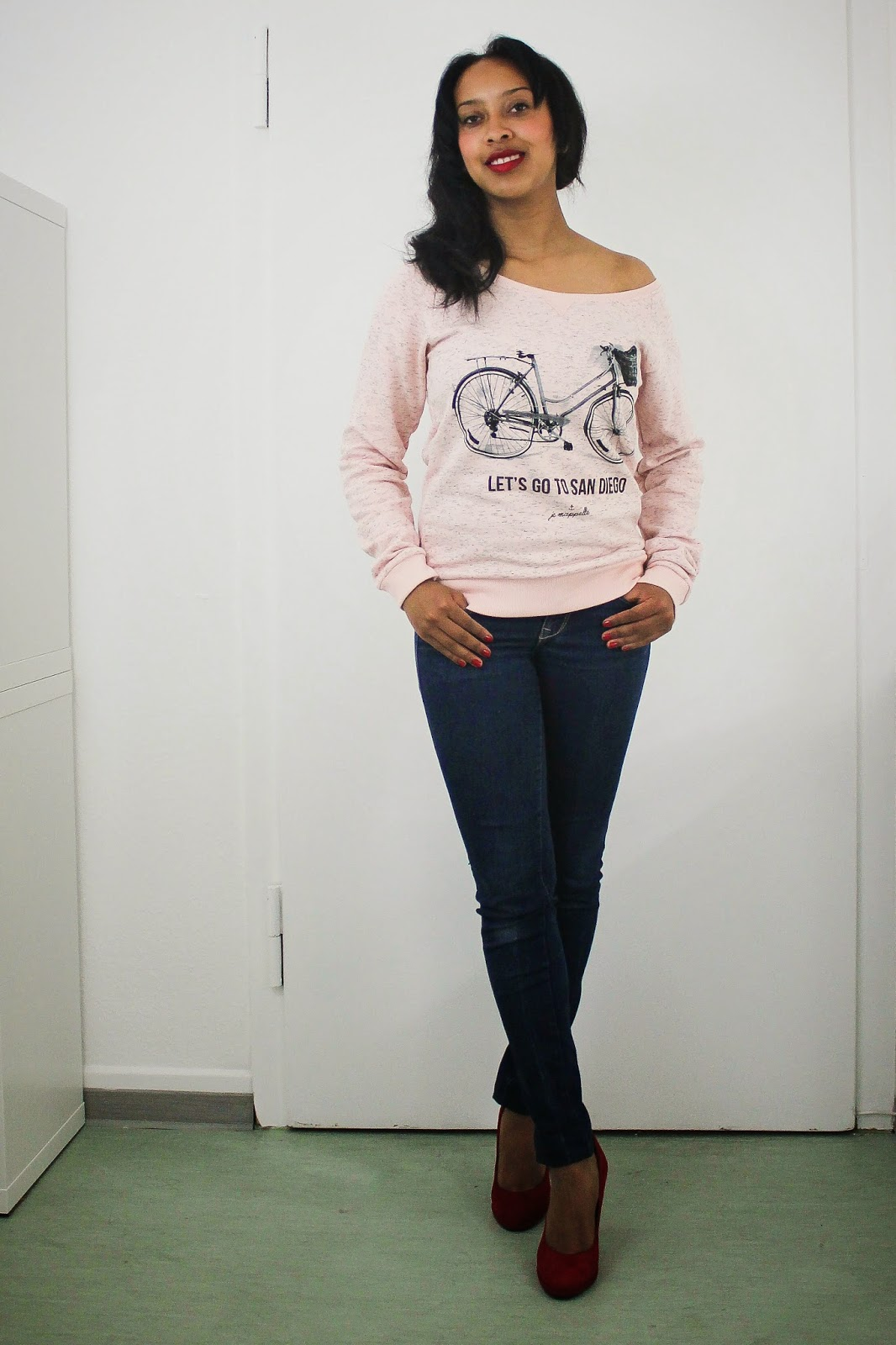 JE M'APPELLE BIKE SWEATSHIRT PINK MELANGE PRIZMAHFASHION