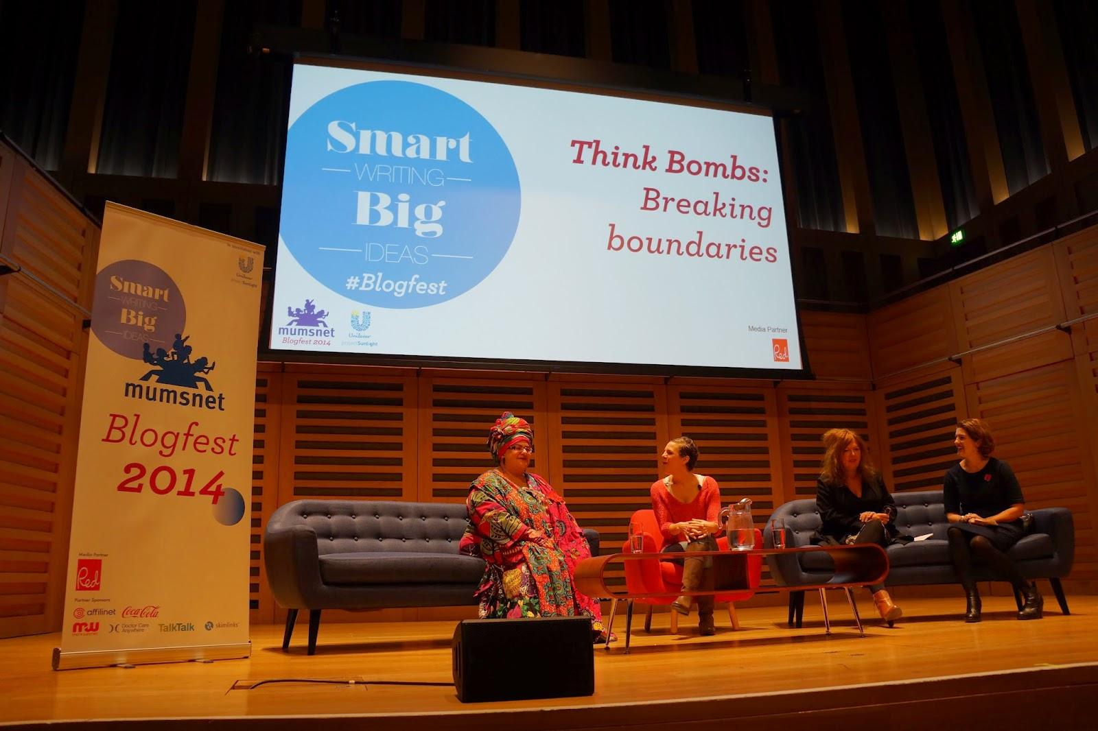 mumsnet blogfest 2014 think bombs