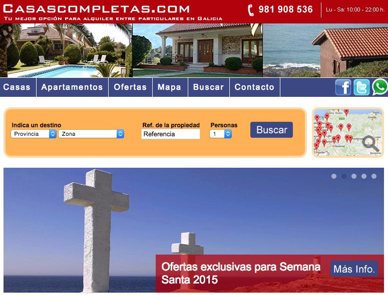 Ofertas para alquilar casas y apartamentos para Semana Santa en Galicia