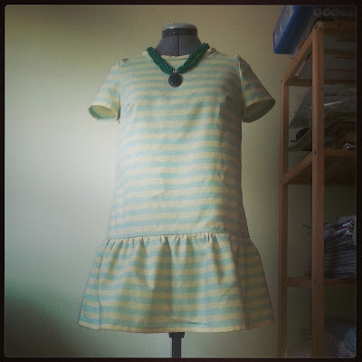 summer babydoll dress, stripes