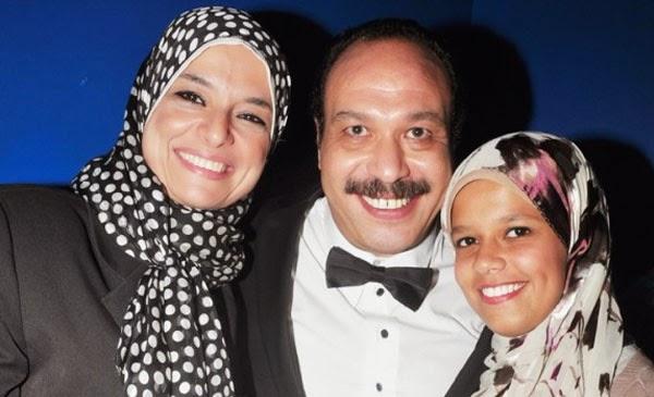 موقف طريف بين خالد صالح وزوجته