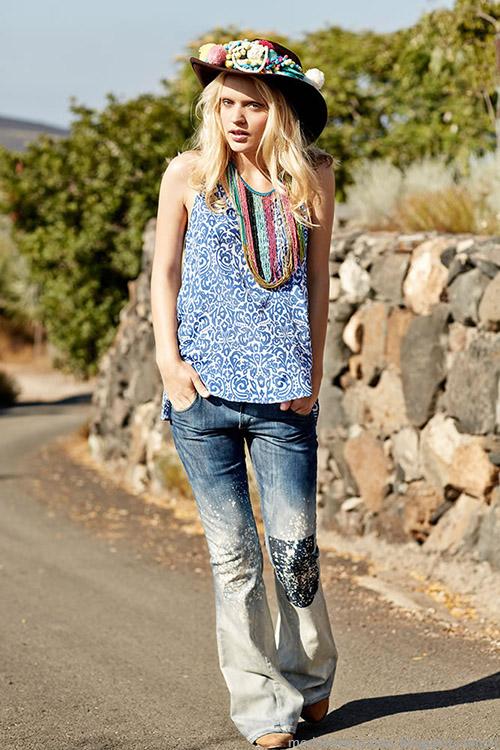 Moda primavera verano 2015 India Style pantalones oxford moda 2015.