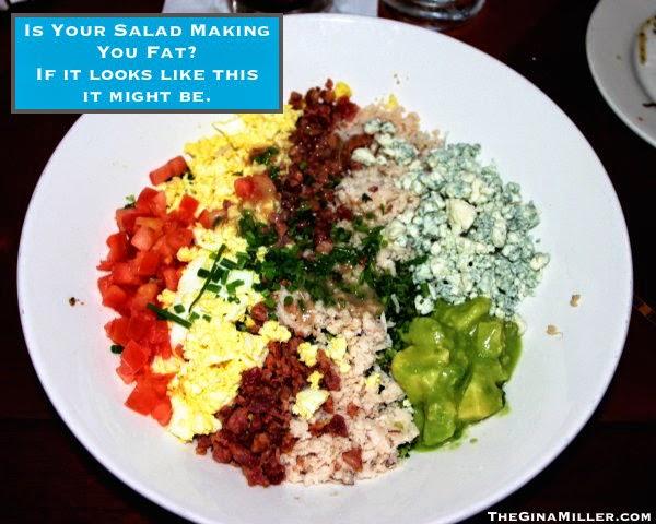 salads, salad calories, fattening calories