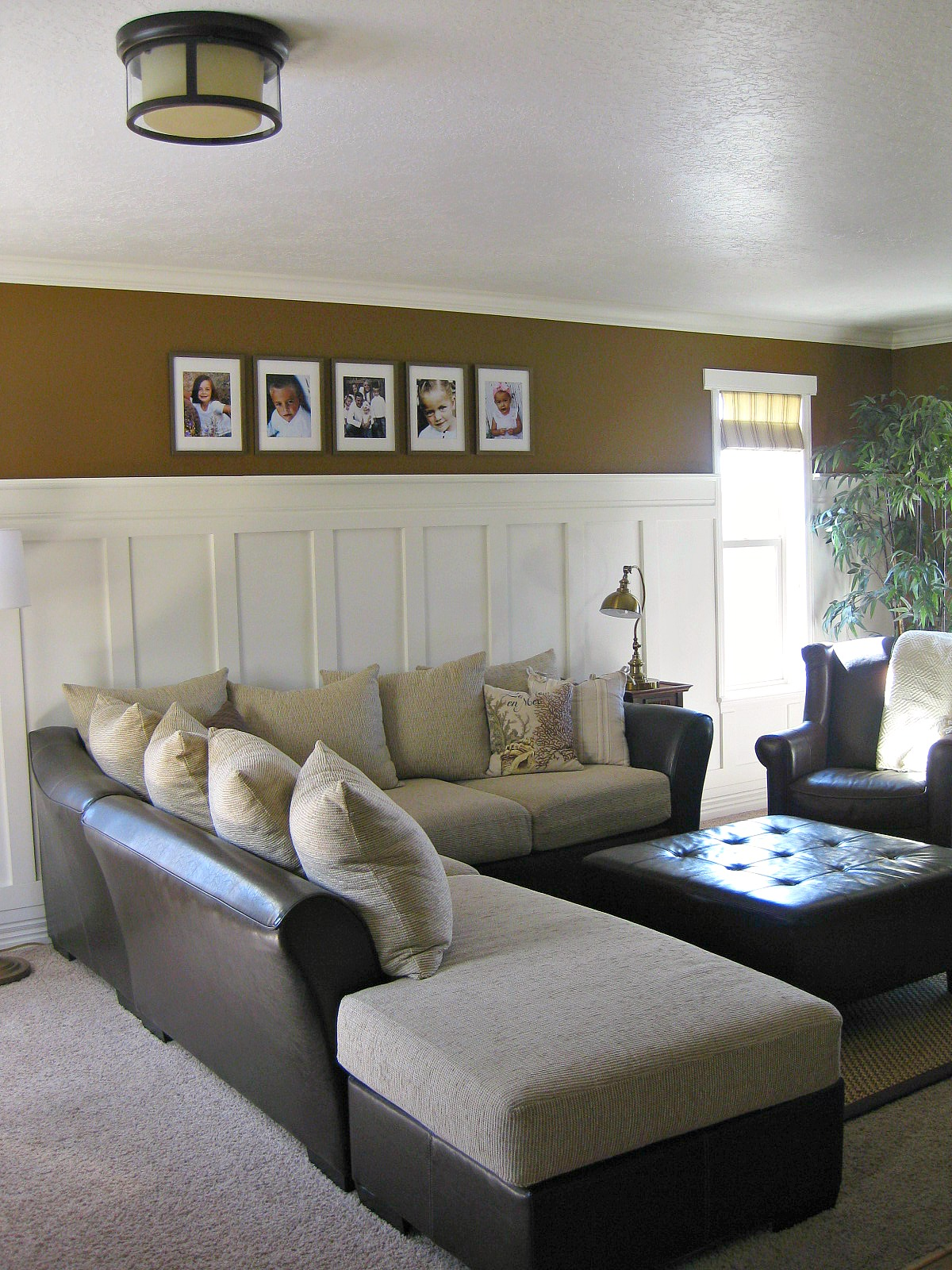Tda decorating and design stairwell board batten tutorial for Decorating walls in living room