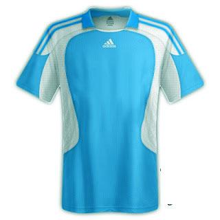 Desain kaos sepakbola warna biru langit - exnim.com