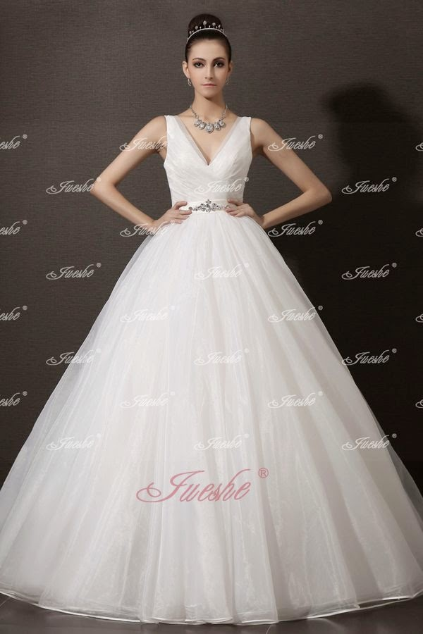 http://www.jueshegowns.co.uk/v-neck-ball-gown-organza-wedding-dress-with-crystal-sash-and-chapel-train-jswd0002.html