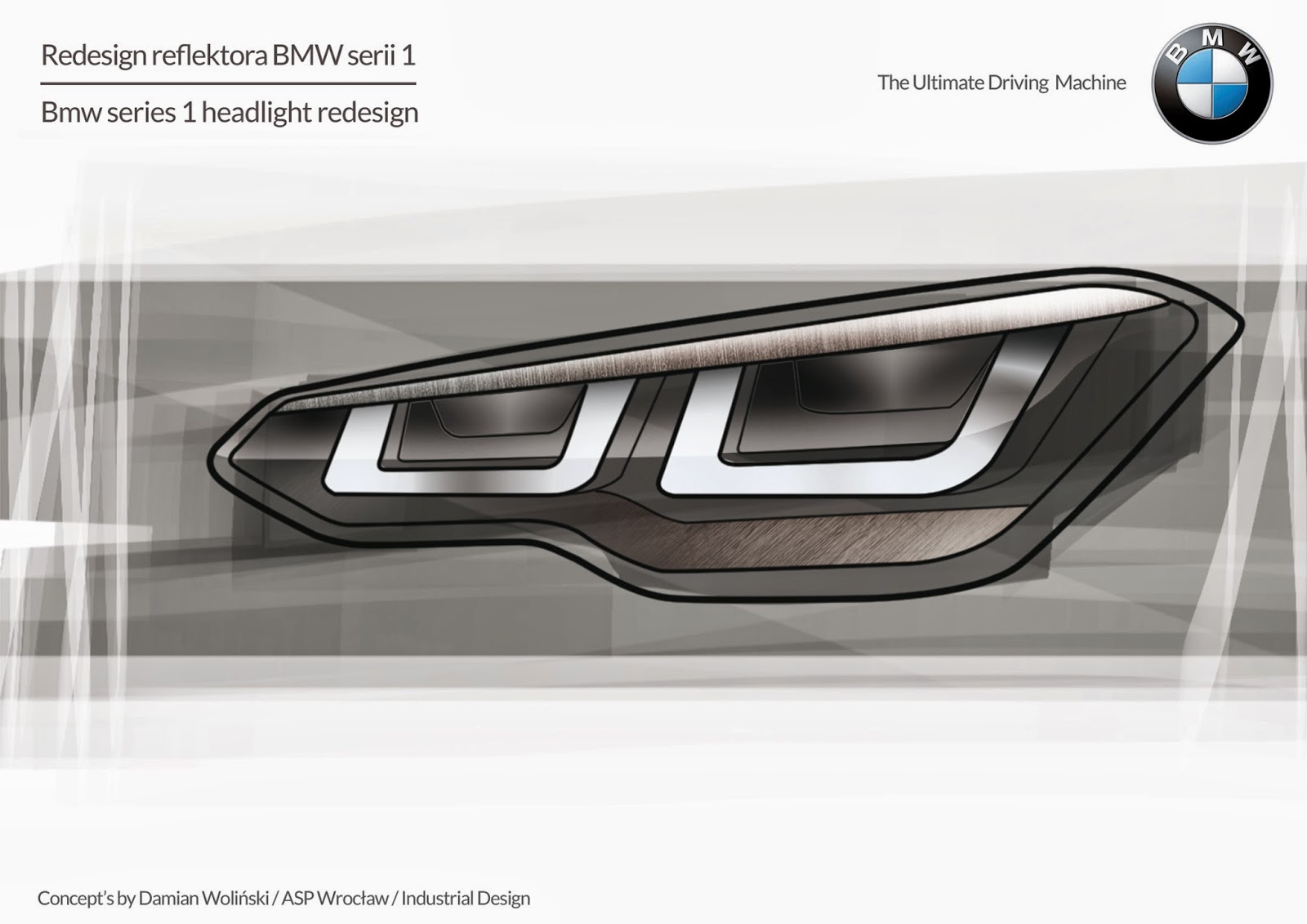 Car Design Sketches And Drawings. Bmw Series 1 - Headlights Redesignu0026#39;s