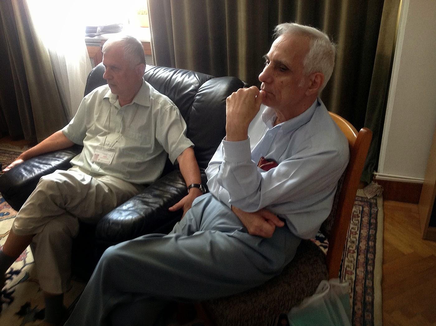 Profesorii Udriste si Nicolae Marcov ( tatal meu ),Palatul Parlamentului, 20 iulie 2012