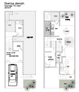 Denah Rumah Minimalis Terbaru 2 Lantai
