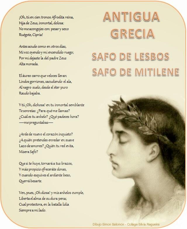 Safo de poema de lesbos