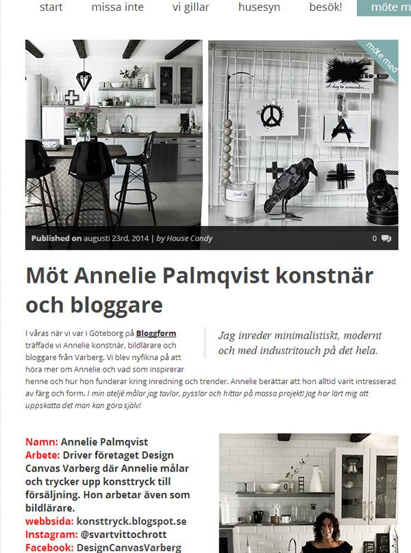 house candy, intervju, i möte med, frida stylist, annelie palmqvist, artprints, artprint, konsttryck, tavlor, tavla, inredning, blogg, bloggare,