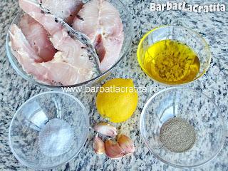 Crap la cuptor cu lamaie ingrediente reteta