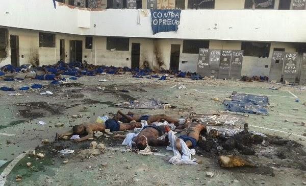 Imagens chocantes em cenário de guerra no Presídio de Eunápolis: 06 detentos queimados vivos