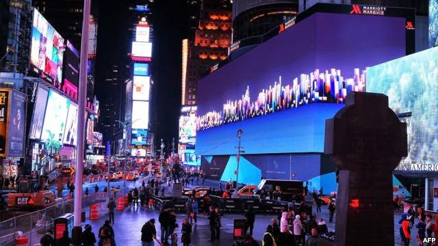اكبر شاشة في العالم بطول 100 متر وارتفاع 23 متر