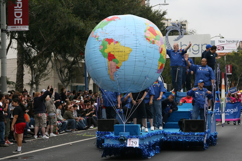 Pride around the world float