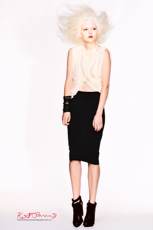 Uscari 'Submerged in Silence' Black skirt, strappy top; Photographers Edit