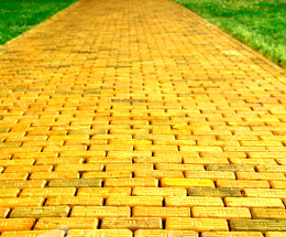 follow the yellow brick road