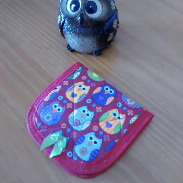 Porta absorvente em Tecido de Coruja | @ateliemadrica