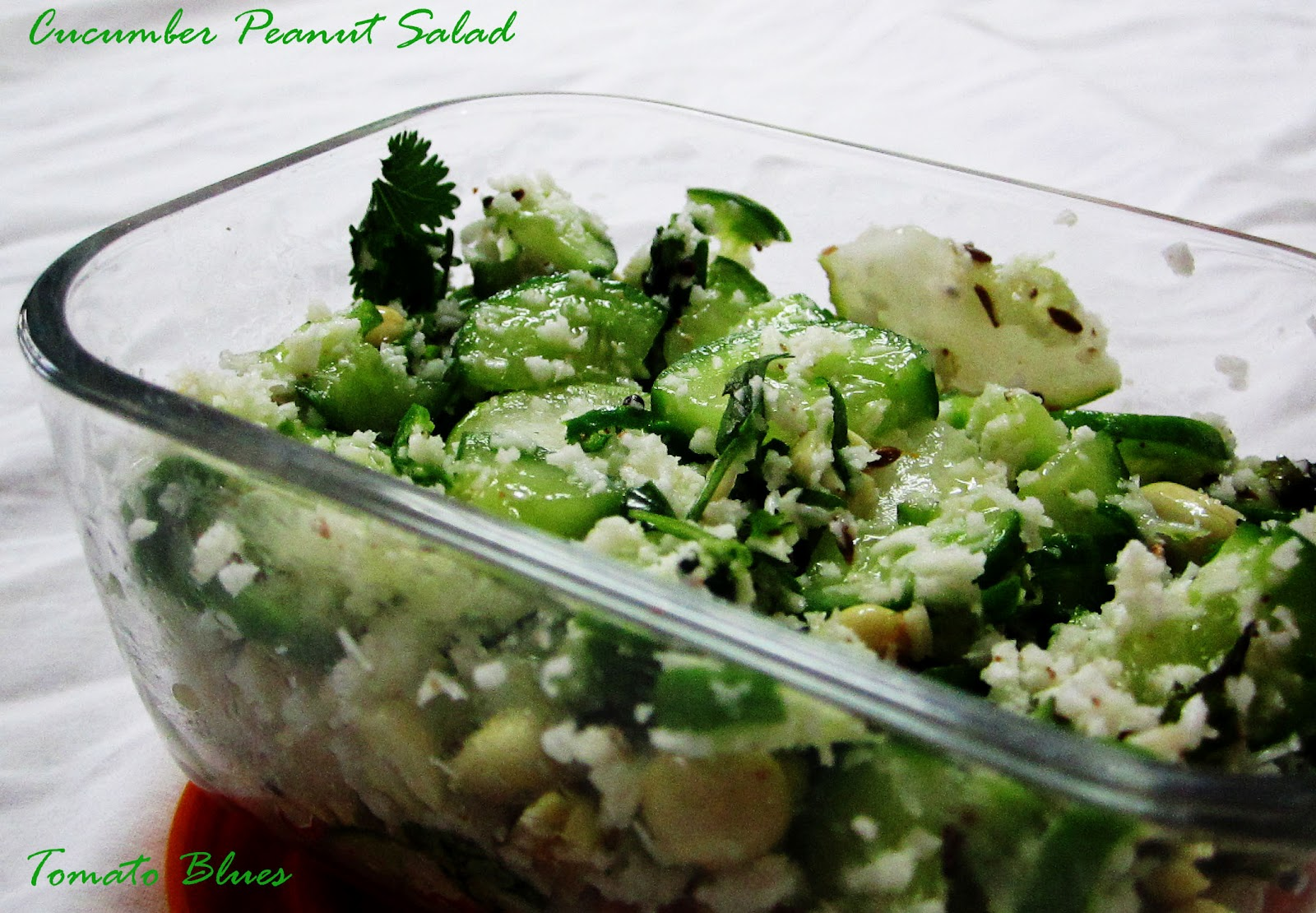 Cucumber Peanut Salad For Gourmet Seven - Tomato Blues