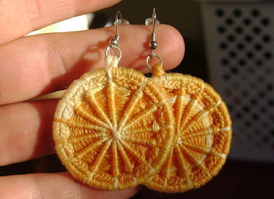 Dorset button earrings