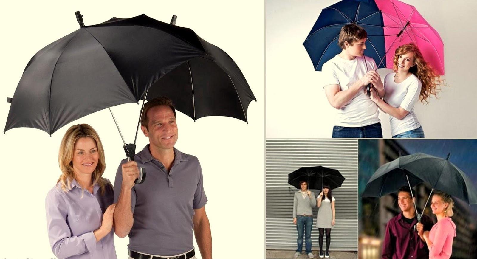 Satu payung berdua tidak cukup besar? Rekaan ini menggabungkan 2