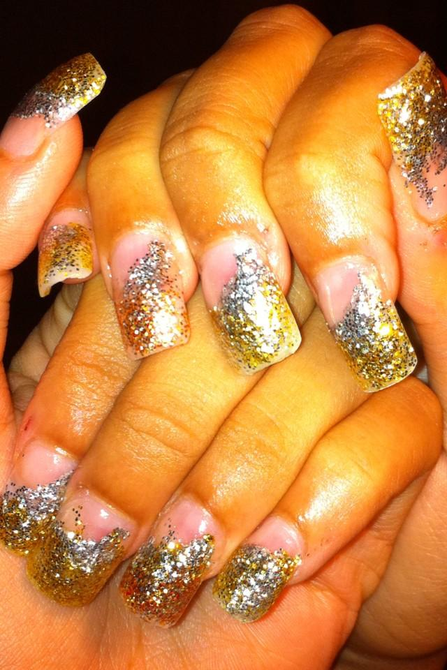 I Did These Nails A While Back Now But Initially Got Inspired By Gemma Lamberts Olympic That She Had Created Didnt Have Any Glitter Acrylic At