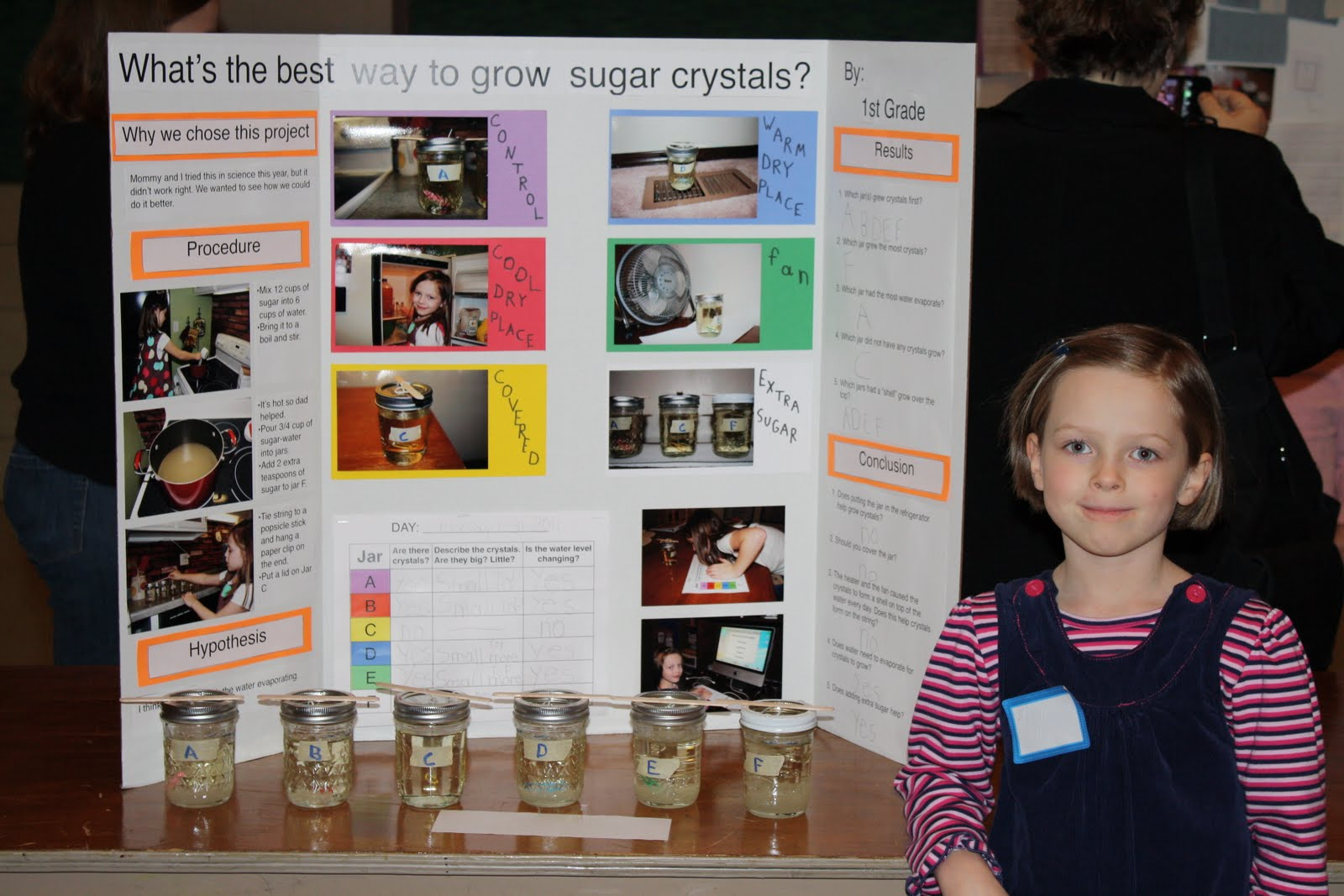 sugar crystals science fair project Get your science news from the most trusted source a chemistry such as sugar or salt how well do crystals form using other mixtures with water.