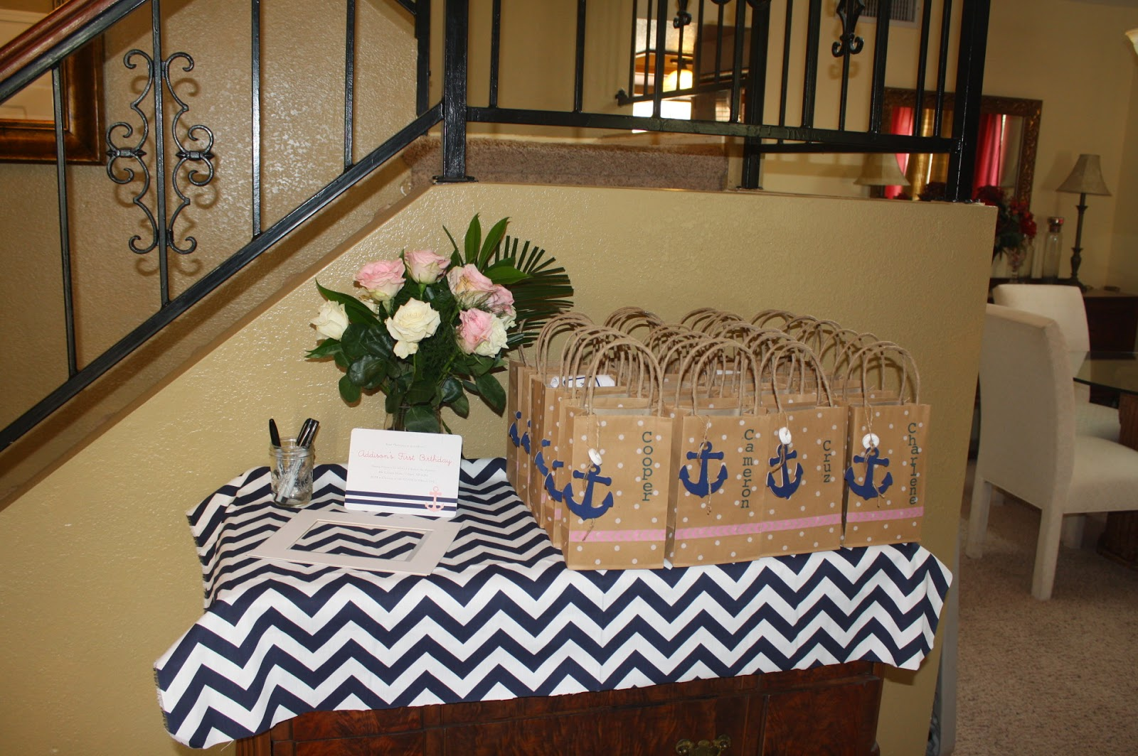 Welcome Table And Party Favors