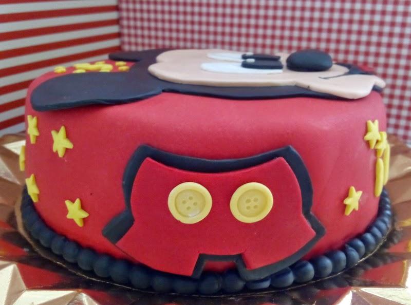Tarta fondant, cumpleaños, Mickey