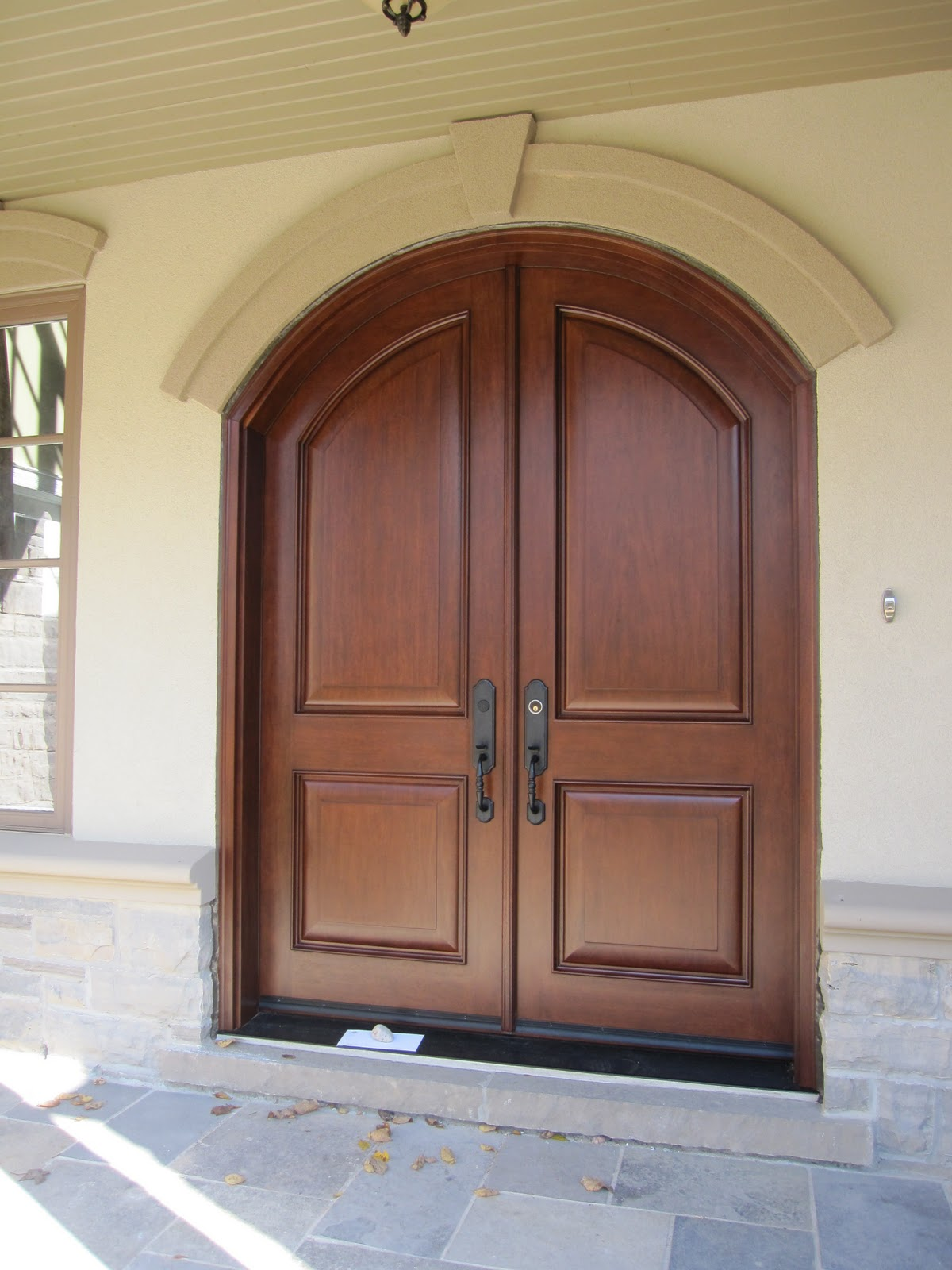 1600 #877244 Statements Define Your Home: February 2011 pic Arched Double Front Doors 42711200