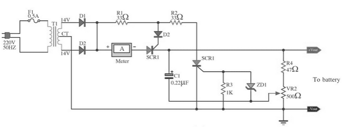Wiring schematic diagram automatic 12v car battery charger circuit the red led will turn on when charging is complete and charging circuit will deactivated this circuit used only for 12 v battery swarovskicordoba Image collections