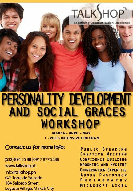 TalkShop's Personality Development and Social Graces Summer Workshops