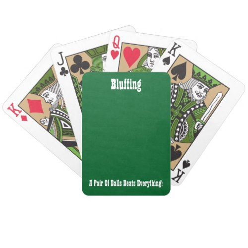 Bluffing | Funny Poker Playing Cards Deck