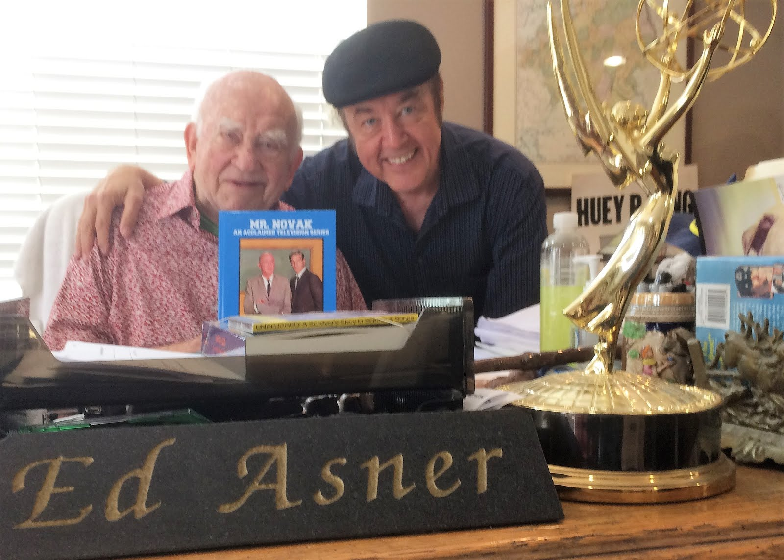 "Harter with TV icon Ed Asner, who appeared on ""Mr. Novak"""