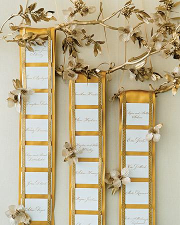 Detalles dorados en la boda