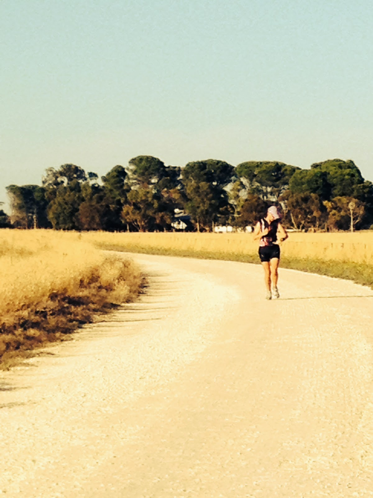 Running on a country road